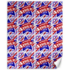 Happy 4th Of July Theme Pattern Canvas 16  x 20