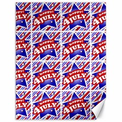 Happy 4th Of July Theme Pattern Canvas 18  x 24