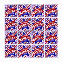 Happy 4th Of July Theme Pattern Medium Glasses Cloth