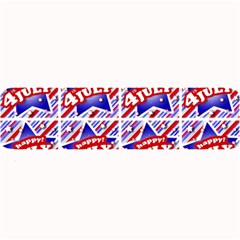 Happy 4th Of July Theme Pattern Large Bar Mats