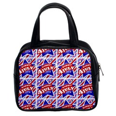 Happy 4th Of July Theme Pattern Classic Handbags (2 Sides)
