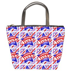 Happy 4th Of July Theme Pattern Bucket Bags
