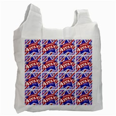Happy 4th Of July Theme Pattern Recycle Bag (One Side)