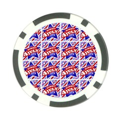 Happy 4th Of July Theme Pattern Poker Chip Card Guard (10 pack)