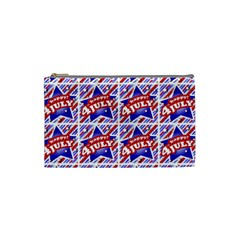 Happy 4th Of July Theme Pattern Cosmetic Bag (Small)