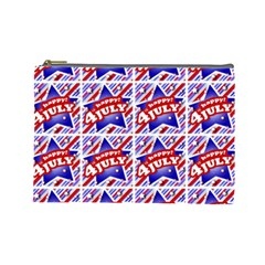 Happy 4th Of July Theme Pattern Cosmetic Bag (Large)