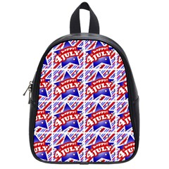 Happy 4th Of July Theme Pattern School Bags (Small)