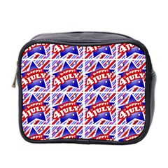 Happy 4th Of July Theme Pattern Mini Toiletries Bag 2-Side