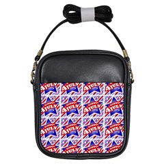 Happy 4th Of July Theme Pattern Girls Sling Bags