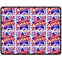 Happy 4th Of July Theme Pattern Fleece Blanket (Medium)