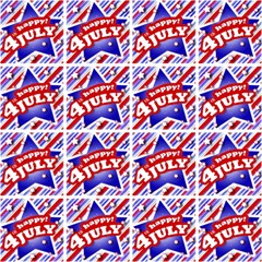 Happy 4th Of July Theme Pattern Magic Photo Cubes