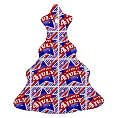 Happy 4th Of July Theme Pattern Ornament (Christmas Tree)