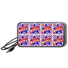 Happy 4th Of July Theme Pattern Portable Speaker (Black)