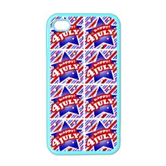 Happy 4th Of July Theme Pattern Apple iPhone 4 Case (Color)