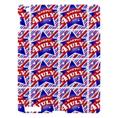 Happy 4th Of July Theme Pattern Apple iPad 3/4 Hardshell Case