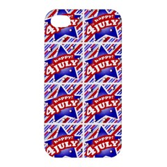 Happy 4th Of July Theme Pattern Apple iPhone 4/4S Premium Hardshell Case