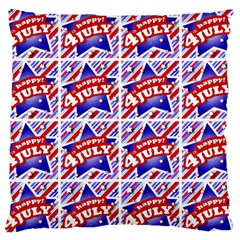 Happy 4th Of July Theme Pattern Large Cushion Case (Two Sides)