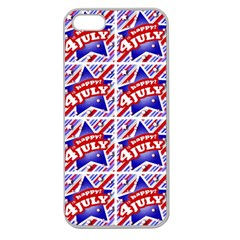 Happy 4th Of July Theme Pattern Apple Seamless iPhone 5 Case (Clear)