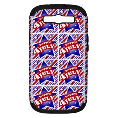 Happy 4th Of July Theme Pattern Samsung Galaxy S III Hardshell Case (PC+Silicone)