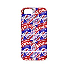Happy 4th Of July Theme Pattern Apple iPhone 5 Classic Hardshell Case (PC+Silicone)