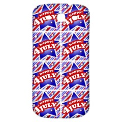 Happy 4th Of July Theme Pattern Samsung Galaxy S3 S III Classic Hardshell Back Case