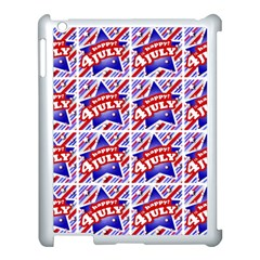 Happy 4th Of July Theme Pattern Apple iPad 3/4 Case (White)