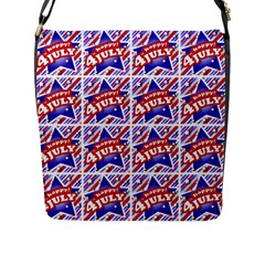 Happy 4th Of July Theme Pattern Flap Messenger Bag (L)