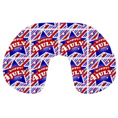 Happy 4th Of July Theme Pattern Travel Neck Pillows