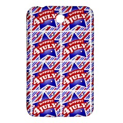 Happy 4th Of July Theme Pattern Samsung Galaxy Tab 3 (7 ) P3200 Hardshell Case