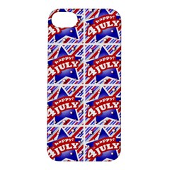 Happy 4th Of July Theme Pattern Apple iPhone 5S/ SE Hardshell Case