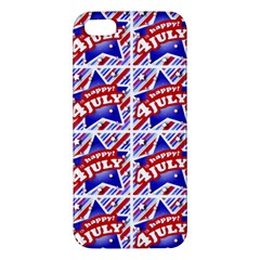 Happy 4th Of July Theme Pattern iPhone 5S/ SE Premium Hardshell Case