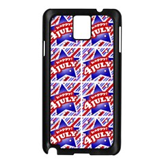 Happy 4th Of July Theme Pattern Samsung Galaxy Note 3 N9005 Case (Black)