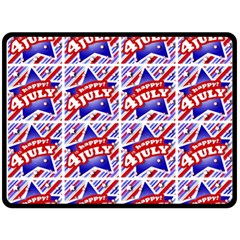 Happy 4th Of July Theme Pattern Double Sided Fleece Blanket (Large)