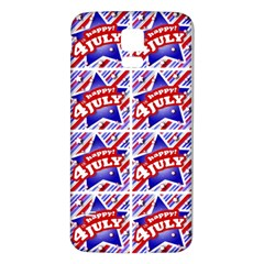 Happy 4th Of July Theme Pattern Samsung Galaxy S5 Back Case (White)