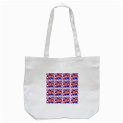 Happy 4th Of July Theme Pattern Tote Bag (White)