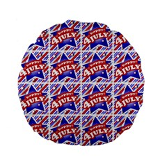 Happy 4th Of July Theme Pattern Standard 15  Premium Flano Round Cushions