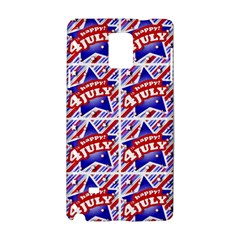 Happy 4th Of July Theme Pattern Samsung Galaxy Note 4 Hardshell Case