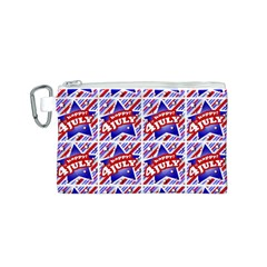 Happy 4th Of July Theme Pattern Canvas Cosmetic Bag (S)