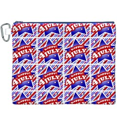 Happy 4th Of July Theme Pattern Canvas Cosmetic Bag (XXXL)