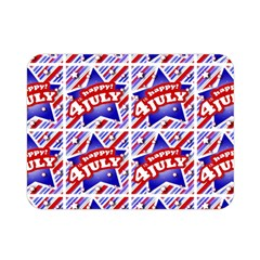Happy 4th Of July Theme Pattern Double Sided Flano Blanket (Mini)