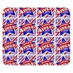 Happy 4th Of July Theme Pattern Double Sided Flano Blanket (Small)