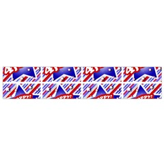 Happy 4th Of July Theme Pattern Flano Scarf (Small)
