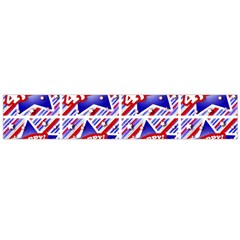 Happy 4th Of July Theme Pattern Flano Scarf (Large)