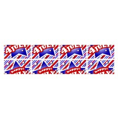 Happy 4th Of July Theme Pattern Satin Scarf (Oblong)