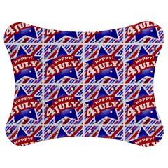 Happy 4th Of July Theme Pattern Jigsaw Puzzle Photo Stand (Bow)