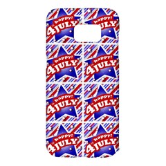 Happy 4th Of July Theme Pattern Samsung Galaxy S7 Edge Hardshell Case