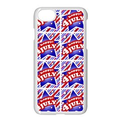 Happy 4th Of July Theme Pattern Apple iPhone 7 Seamless Case (White)