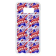 Happy 4th Of July Theme Pattern Samsung Galaxy S8 Plus White Seamless Case