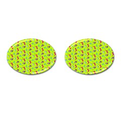 Dinosaurs pattern Cufflinks (Oval)
