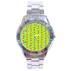 Dinosaurs pattern Stainless Steel Analogue Watch